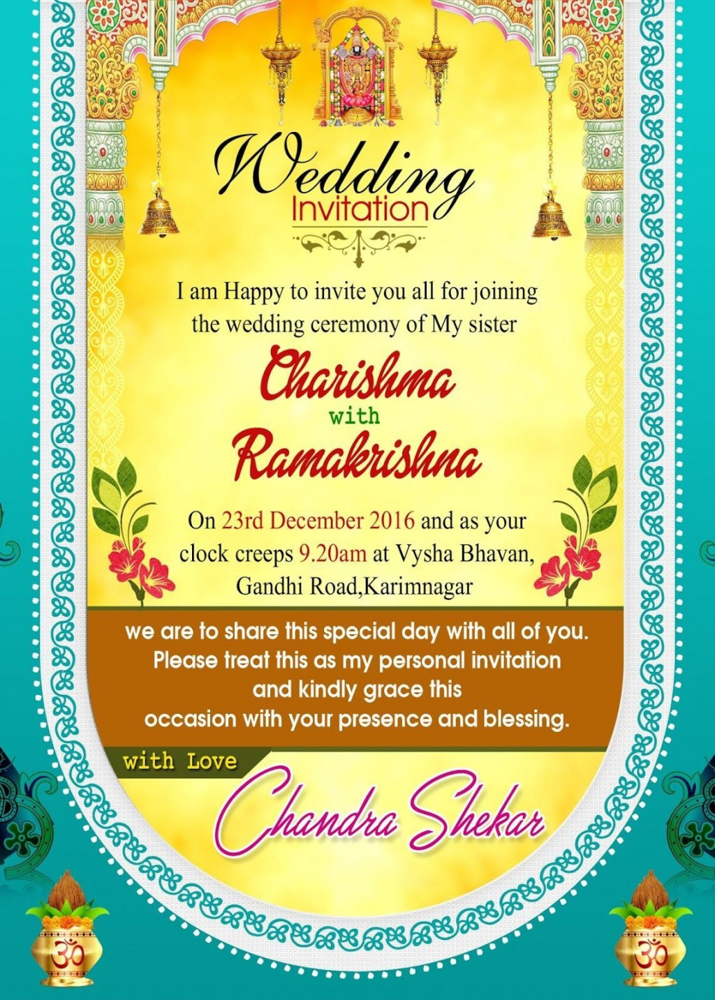 001 Fantastic Free Online Indian Wedding Invitation Card Template High Definition Large