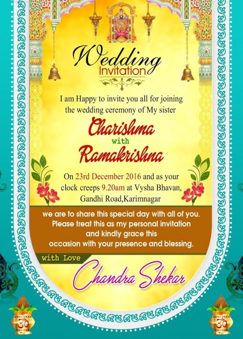 001 Fantastic Free Online Indian Wedding Invitation Card Template High Definition 480