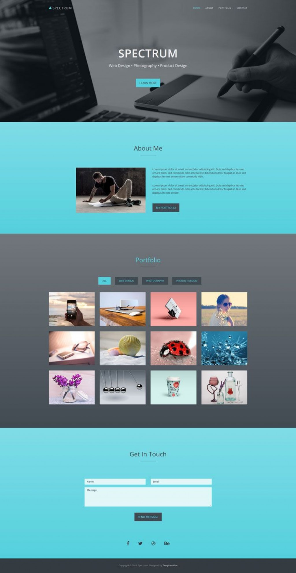 001 Fantastic Free Portfolio Website Template Highest Quality  Templates For Web Developer Photography Html5Large