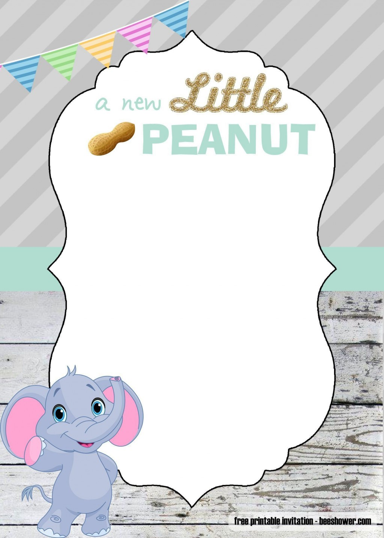001 Fantastic Free Printable Elephant Baby Shower Invitation Template Highest Clarity  Templates EditableLarge