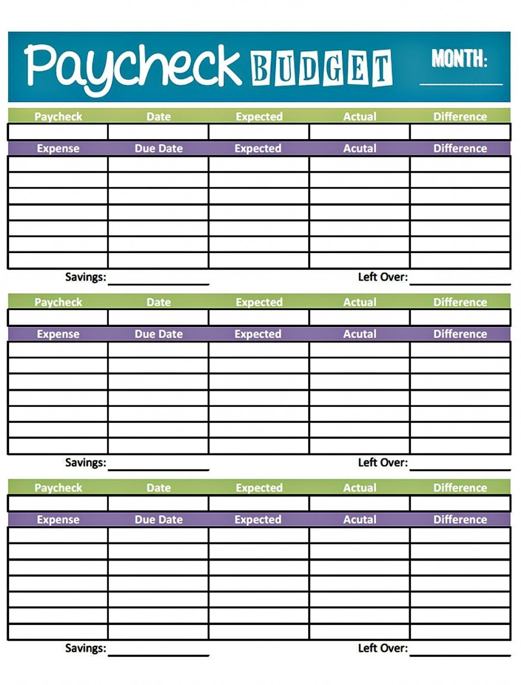 001 Fantastic Free Printable Monthly Budget Form Sample  Forms Personal Template Blank SpreadsheetLarge