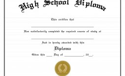 001 Fantastic High School Diploma Template Picture  With Seal Homeschool Free Printable Blank