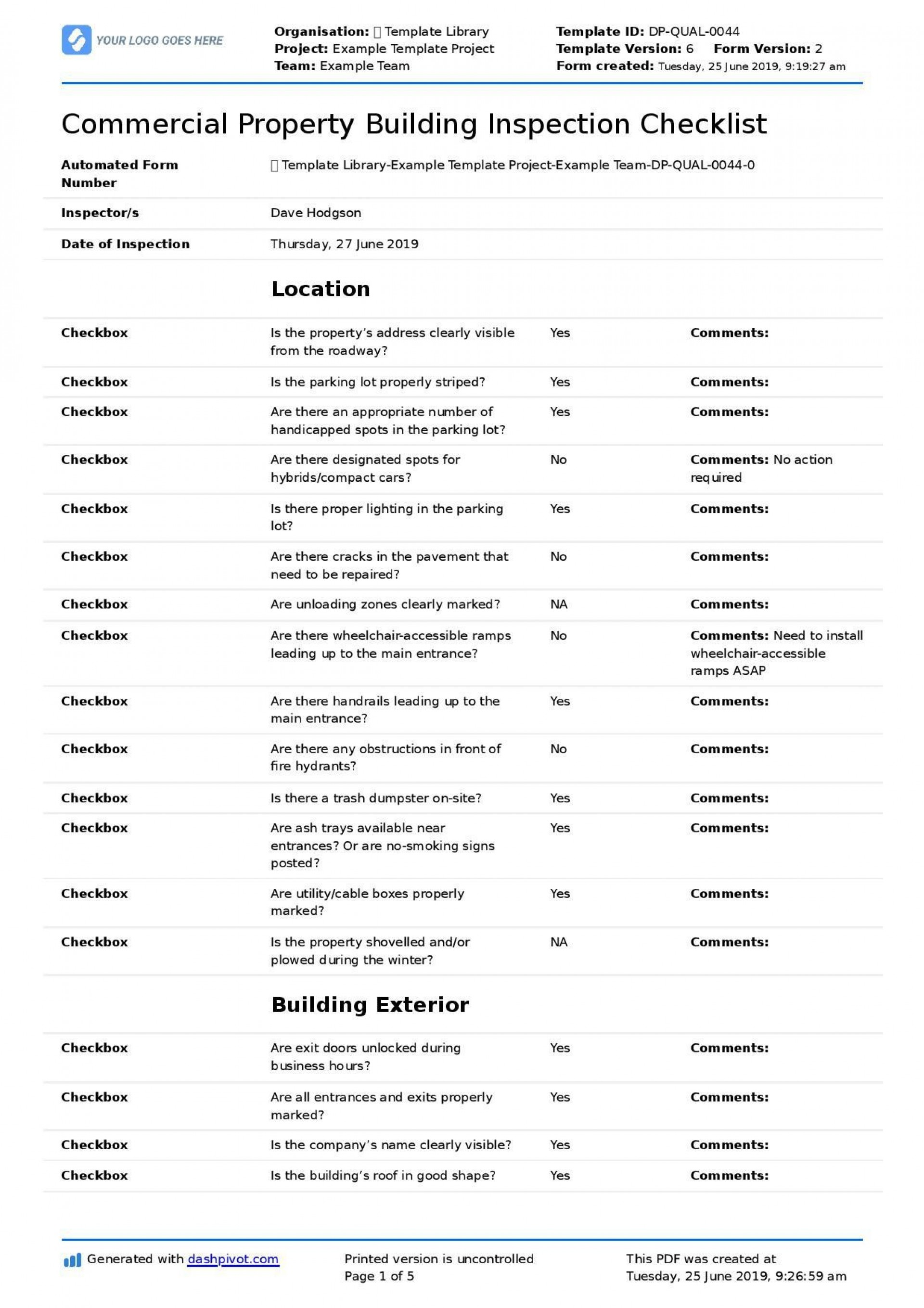 001 Fantastic Home Inspection Checklist Template Example  New Form Free1920