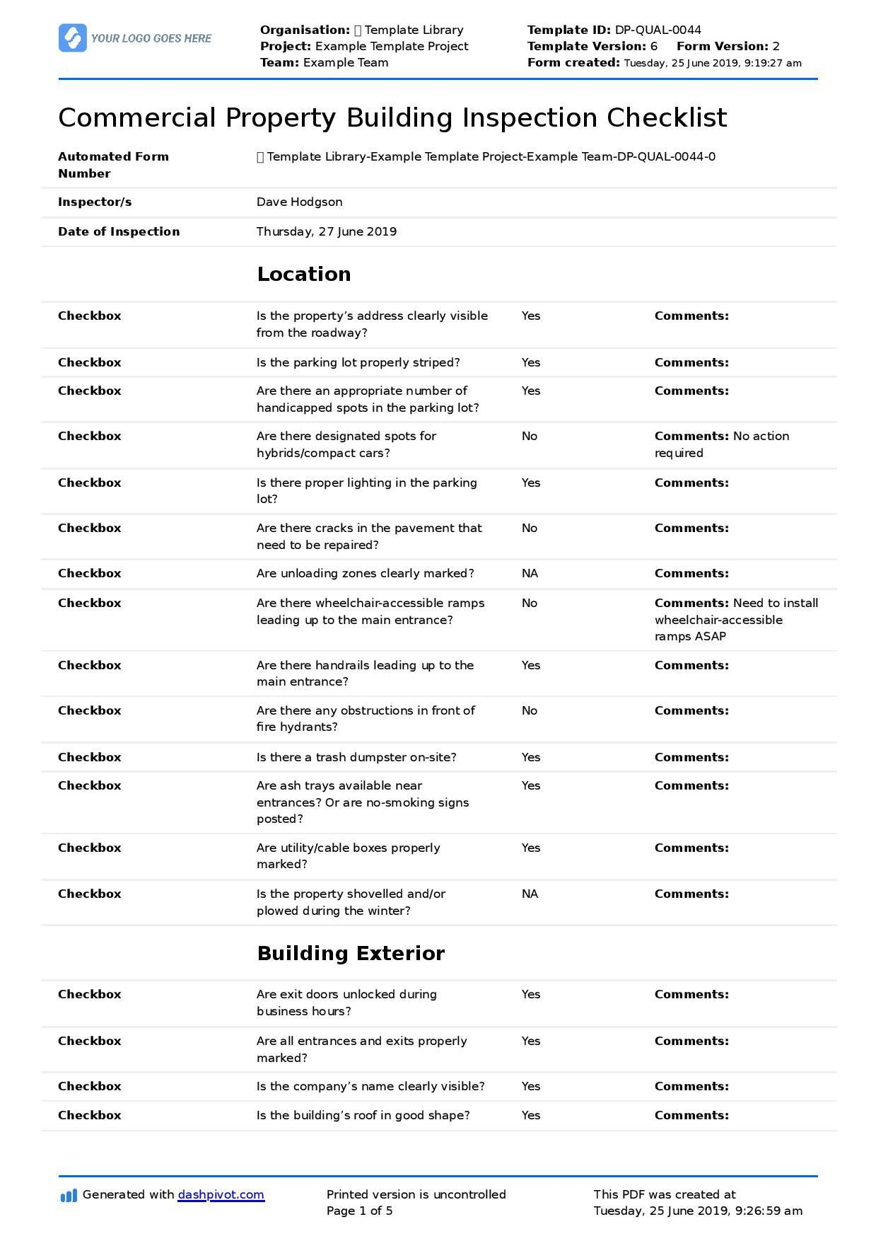 001 Fantastic Home Inspection Checklist Template Example  New Form FreeFull