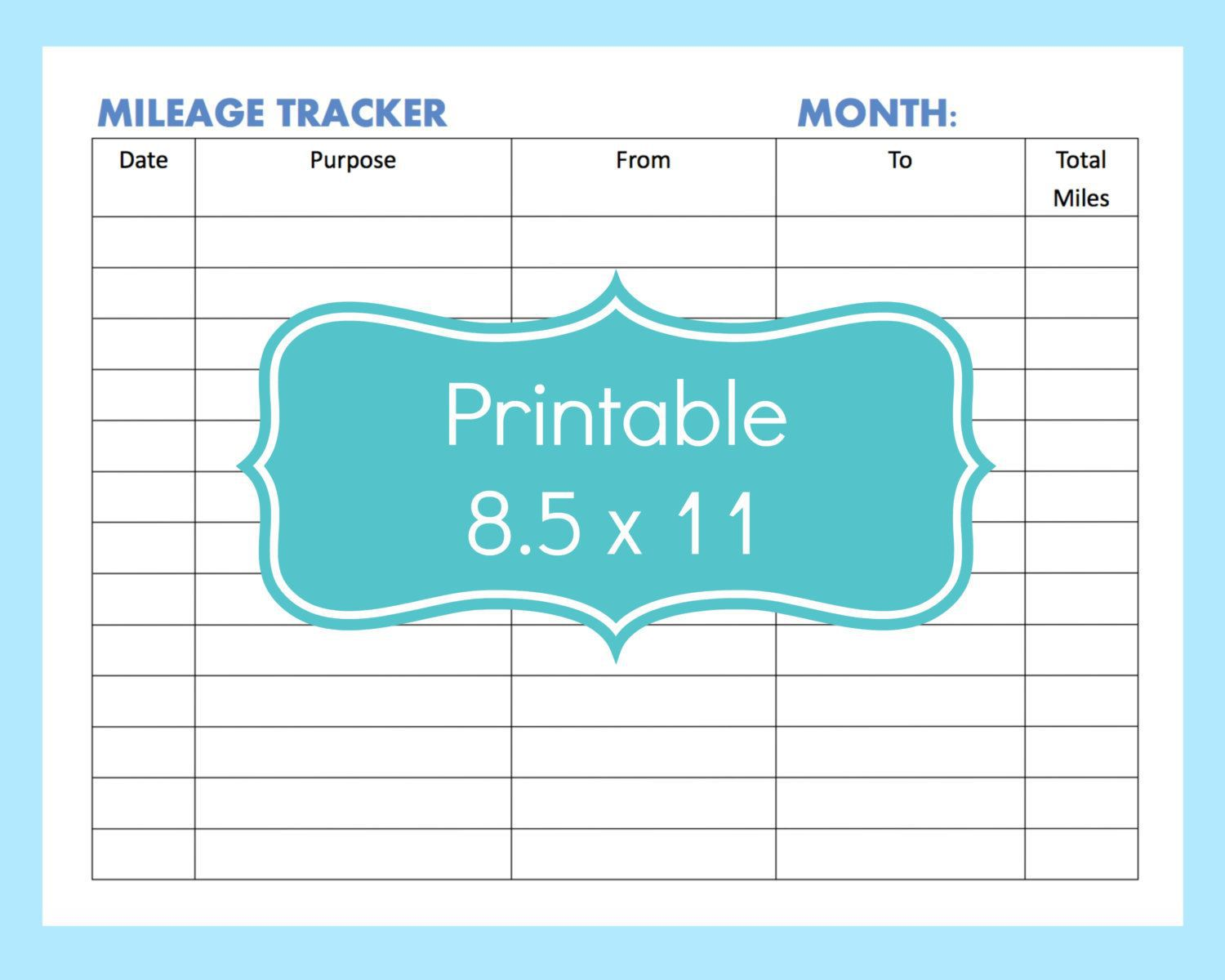 001 Fantastic Mileage Log Printable Template Picture  Book ExcelFull