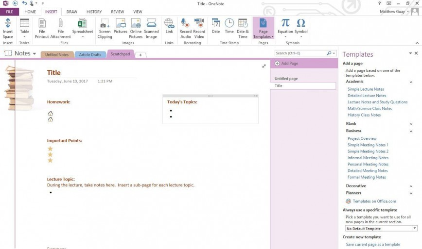 001 Fantastic Onenote Project Management Notebook Template High Definition