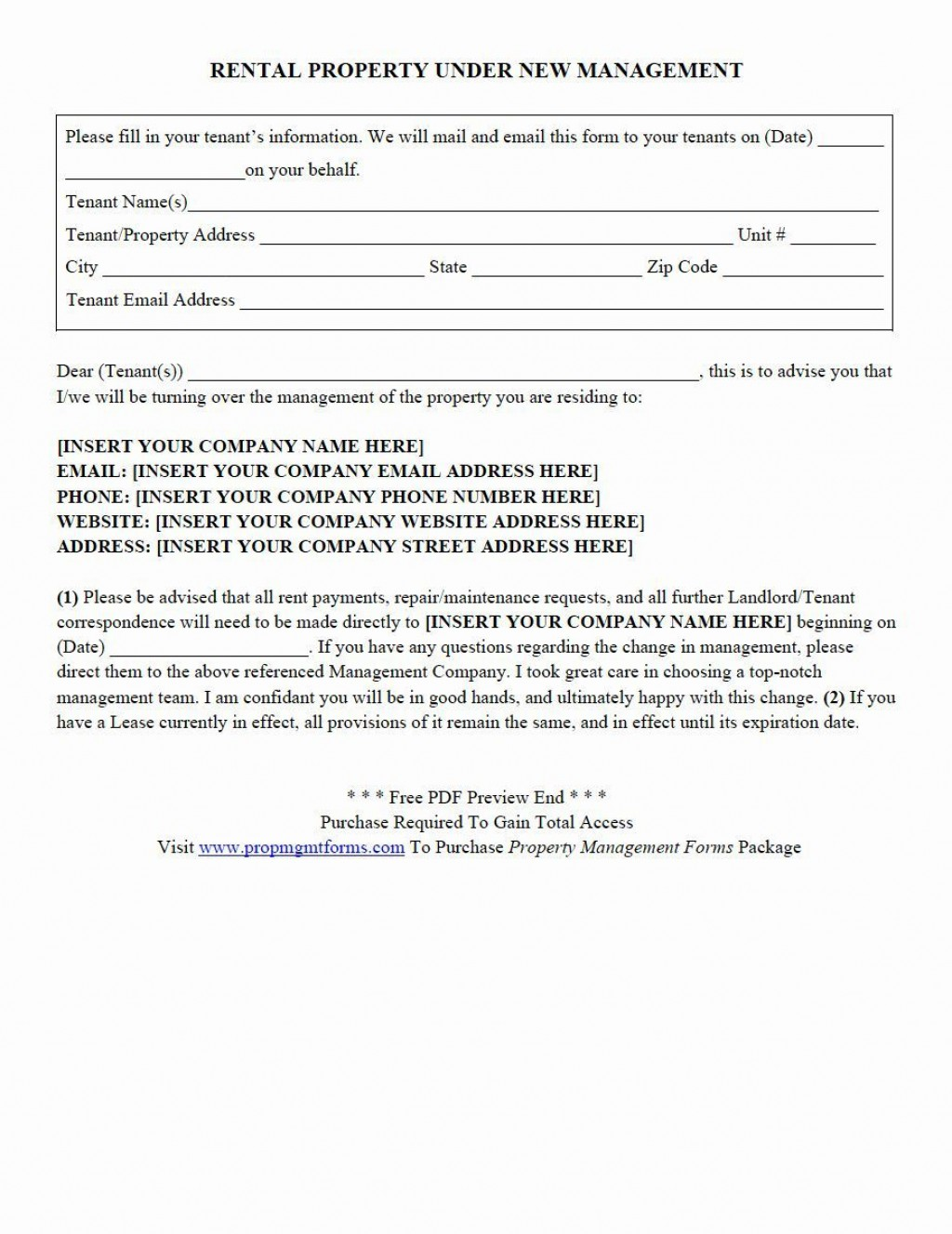 001 Fantastic Property Management Agreement Template Pdf Idea  ContractLarge