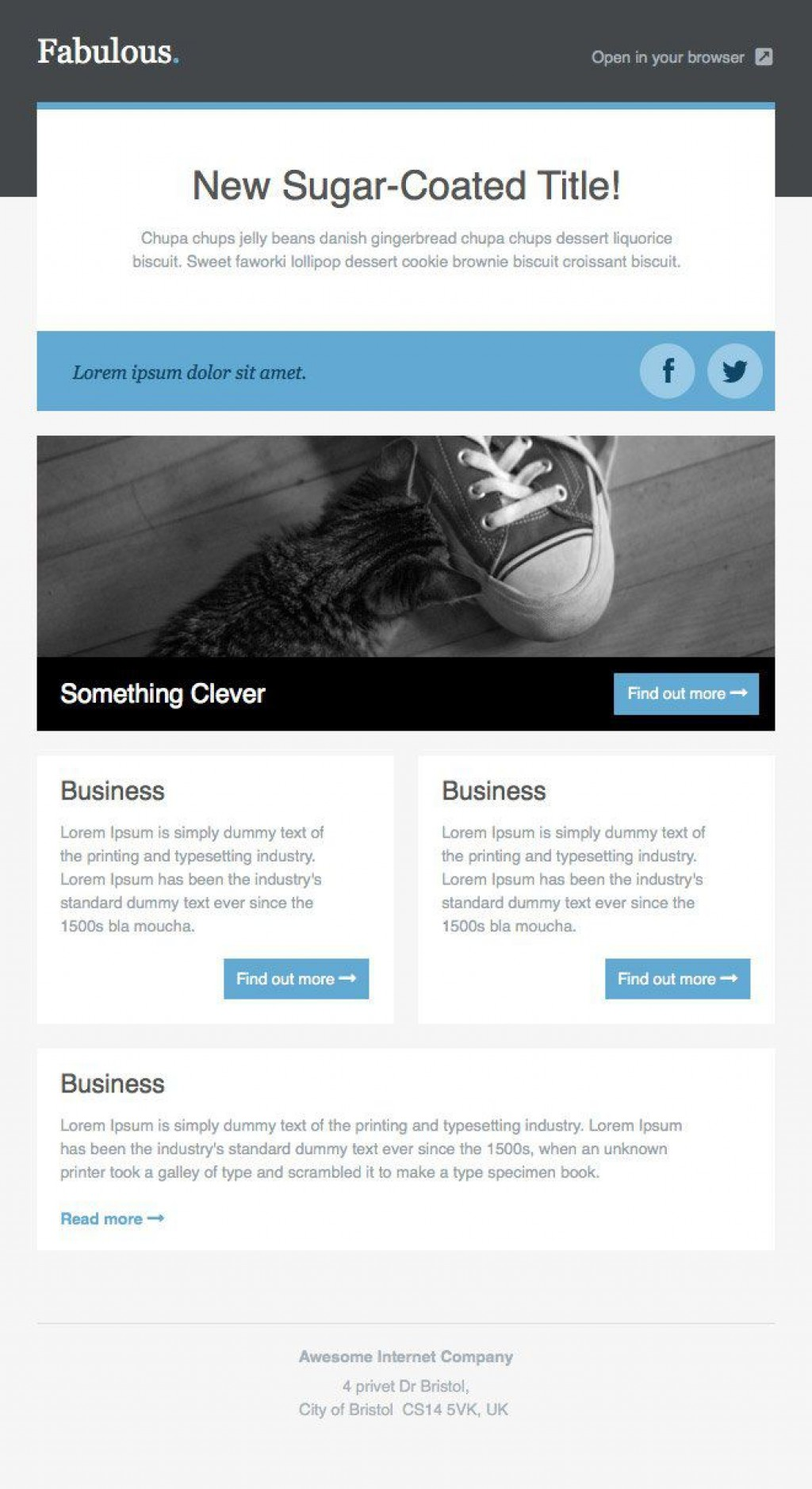 001 Fantastic Responsive Email Newsletter Template Free Download Example Large