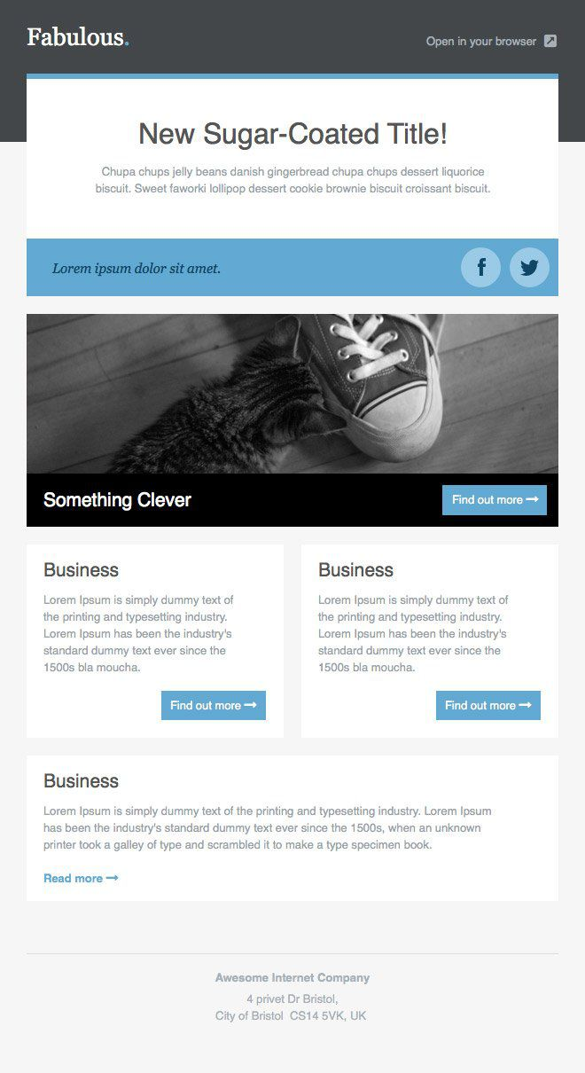 001 Fantastic Responsive Email Newsletter Template Free Download Example Full