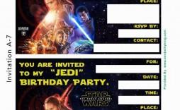 001 Fantastic Star War Birthday Invitation Template High Def  Free Party Printable