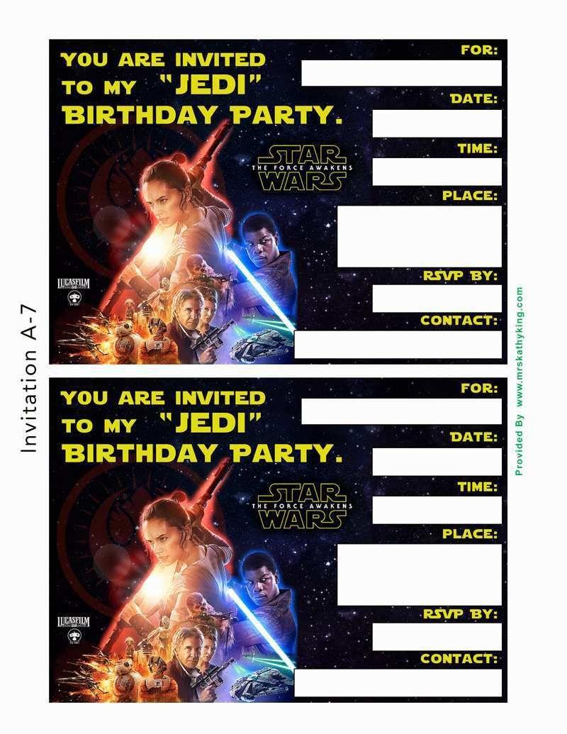 001 Fantastic Star War Birthday Invitation Template High Def  Free Party PrintableFull