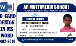 001 Fantastic Student Id Card Template Design  Identity Psd Free Download Word