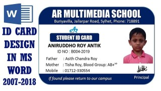 001 Fantastic Student Id Card Template Design  Psd Free School Microsoft Word Download320