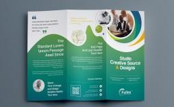 001 Fantastic Three Fold Brochure Template Psd Inspiration  A4 3 Free