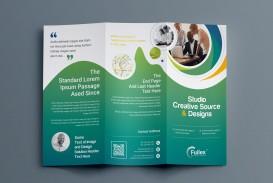 001 Fantastic Three Fold Brochure Template Psd Inspiration  Free 3 A4 Tri Download