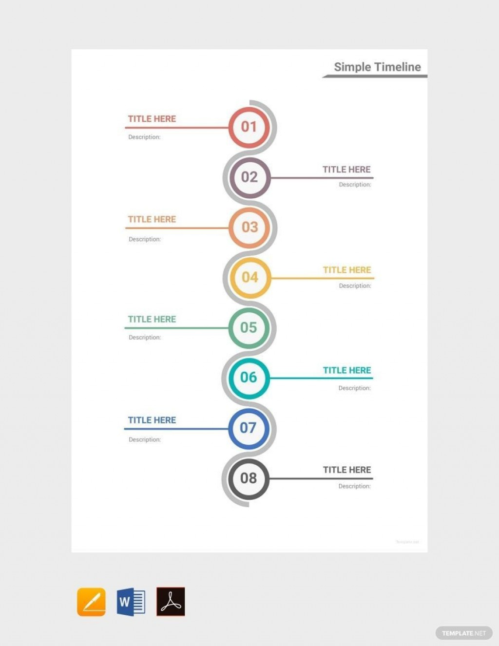 001 Fantastic Timeline Template For Word Idea  Wordpres FreeLarge