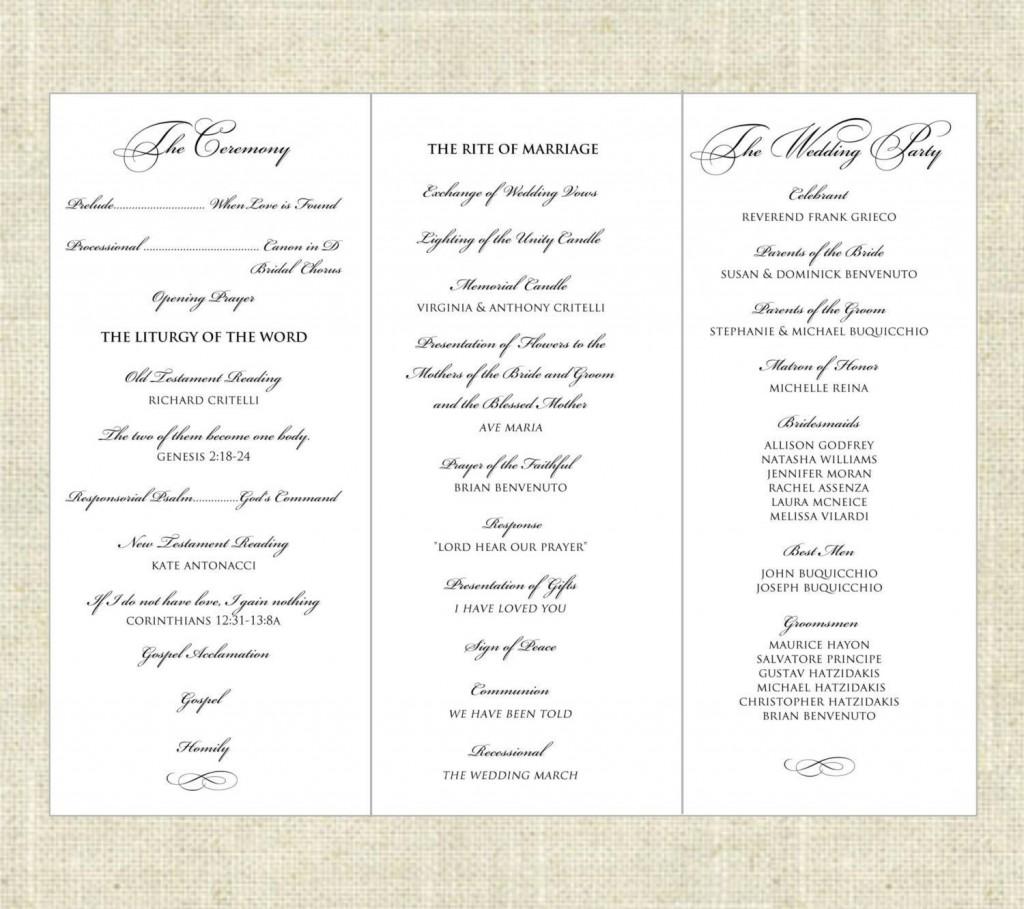 001 Fantastic Trifold Wedding Program Template High Resolution  Tri Fold Word Folded ExampleLarge