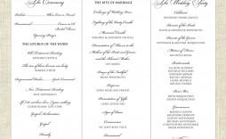 001 Fantastic Trifold Wedding Program Template High Resolution  Tri Fold Word Folded Example