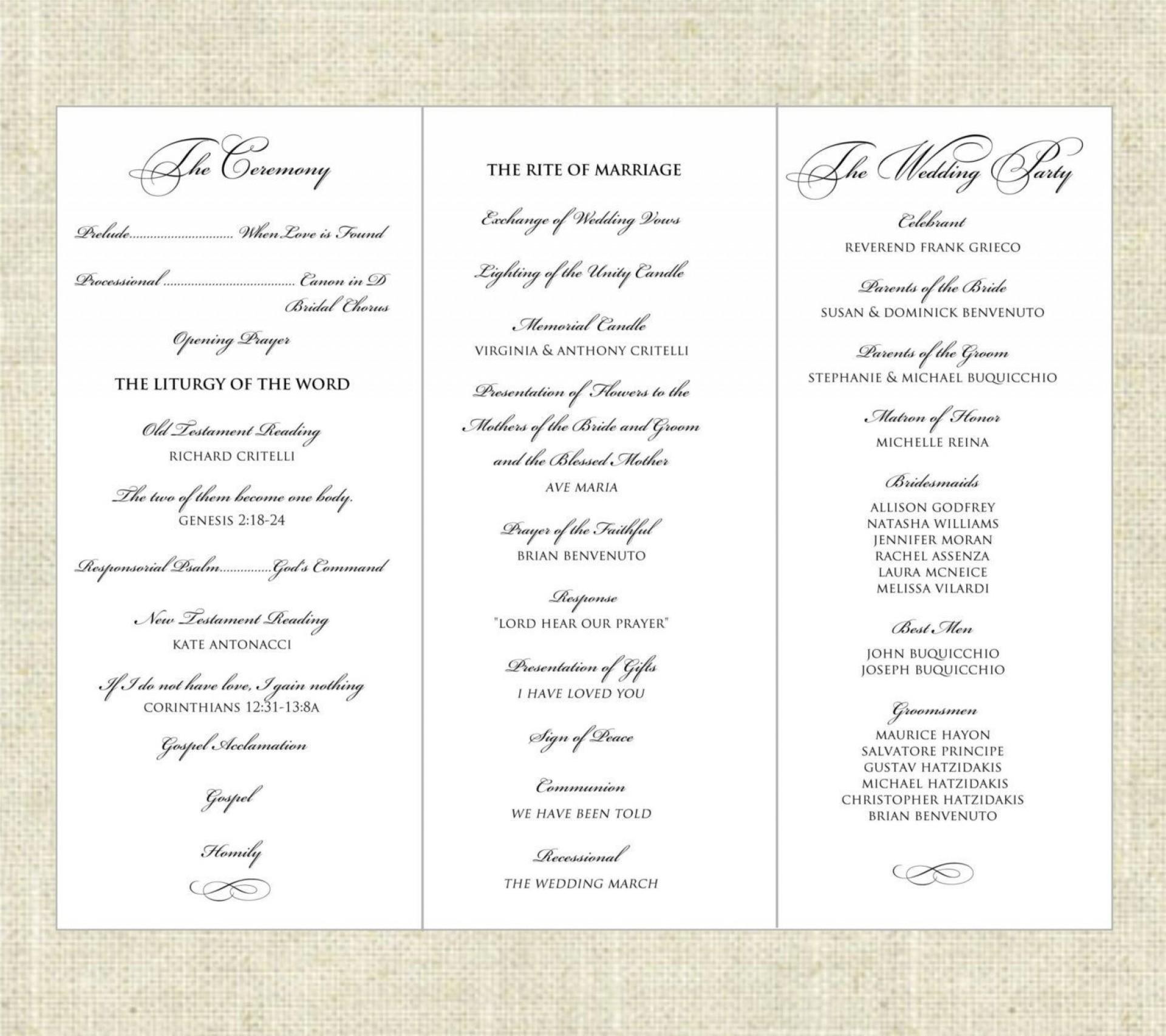 001 Fantastic Trifold Wedding Program Template High Def  Templates Tri Fold Tri-fold Publisher Free Foldable1920