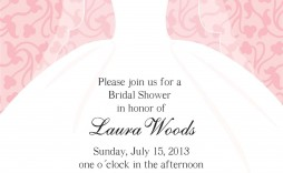 001 Fantastic Wedding Shower Invitation Template Sample  Templates Bridal Pinterest Microsoft Word Free For