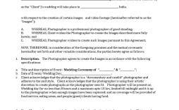 001 Fantastic Wedding Videography Contract Template Highest Quality  Free