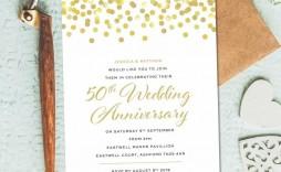 001 Fascinating 50th Wedding Anniversary Invitation Template Photo  Templates Card Sample Golden