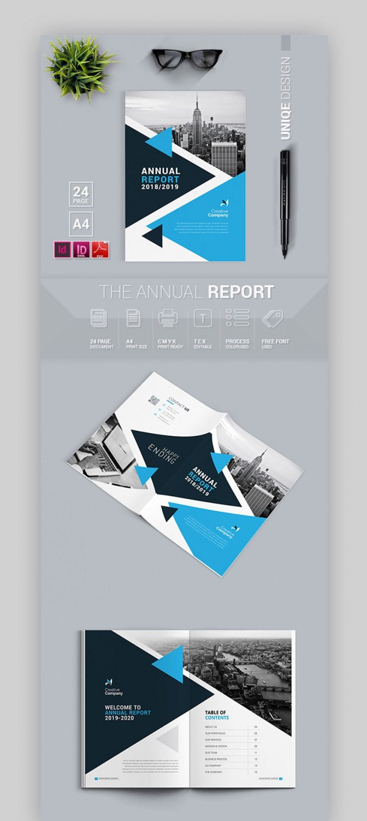 001 Fascinating Annual Report Design Template Indesign  Free Download728