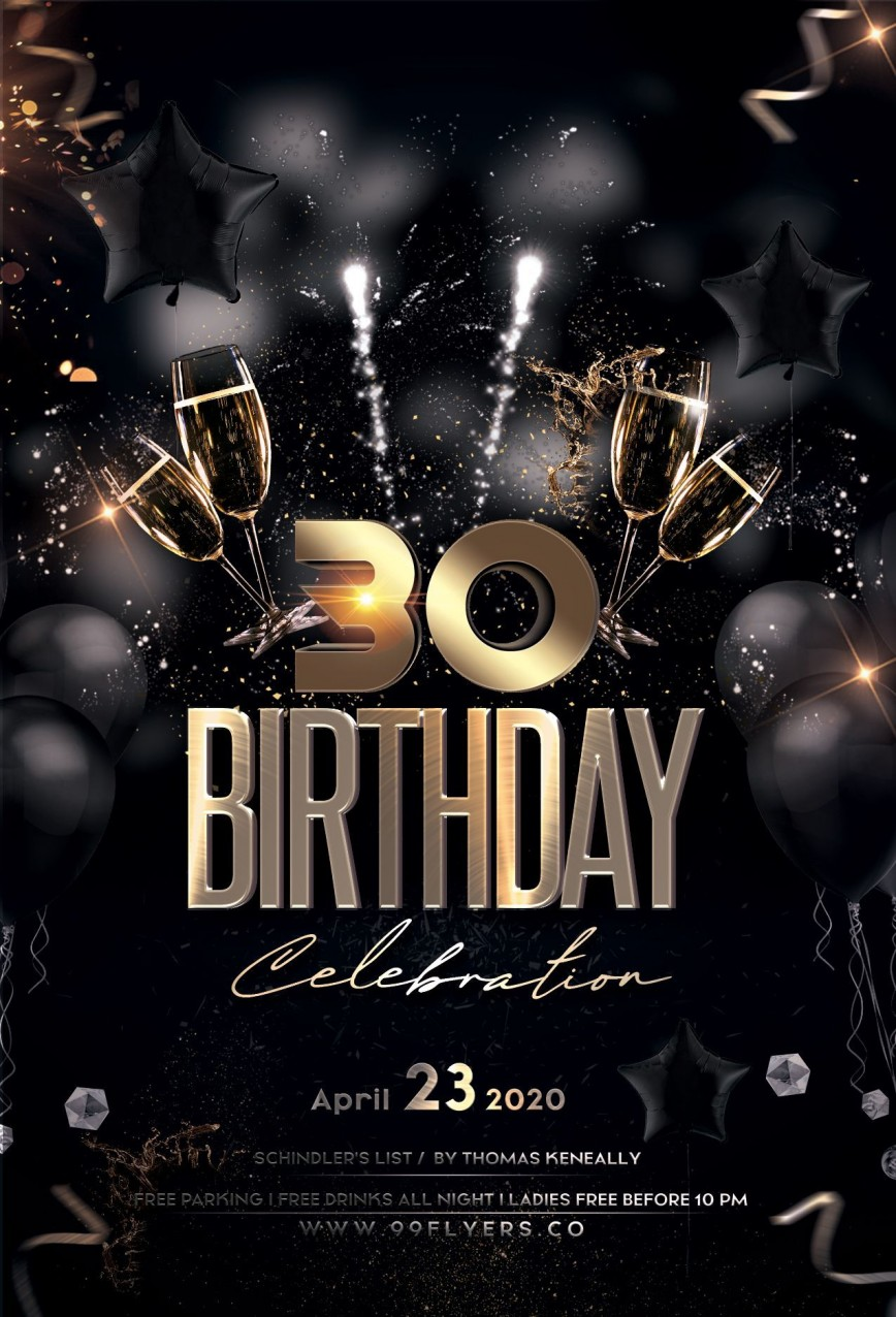001 Fascinating Birthday Flyer Template Psd Free Download High Resolution