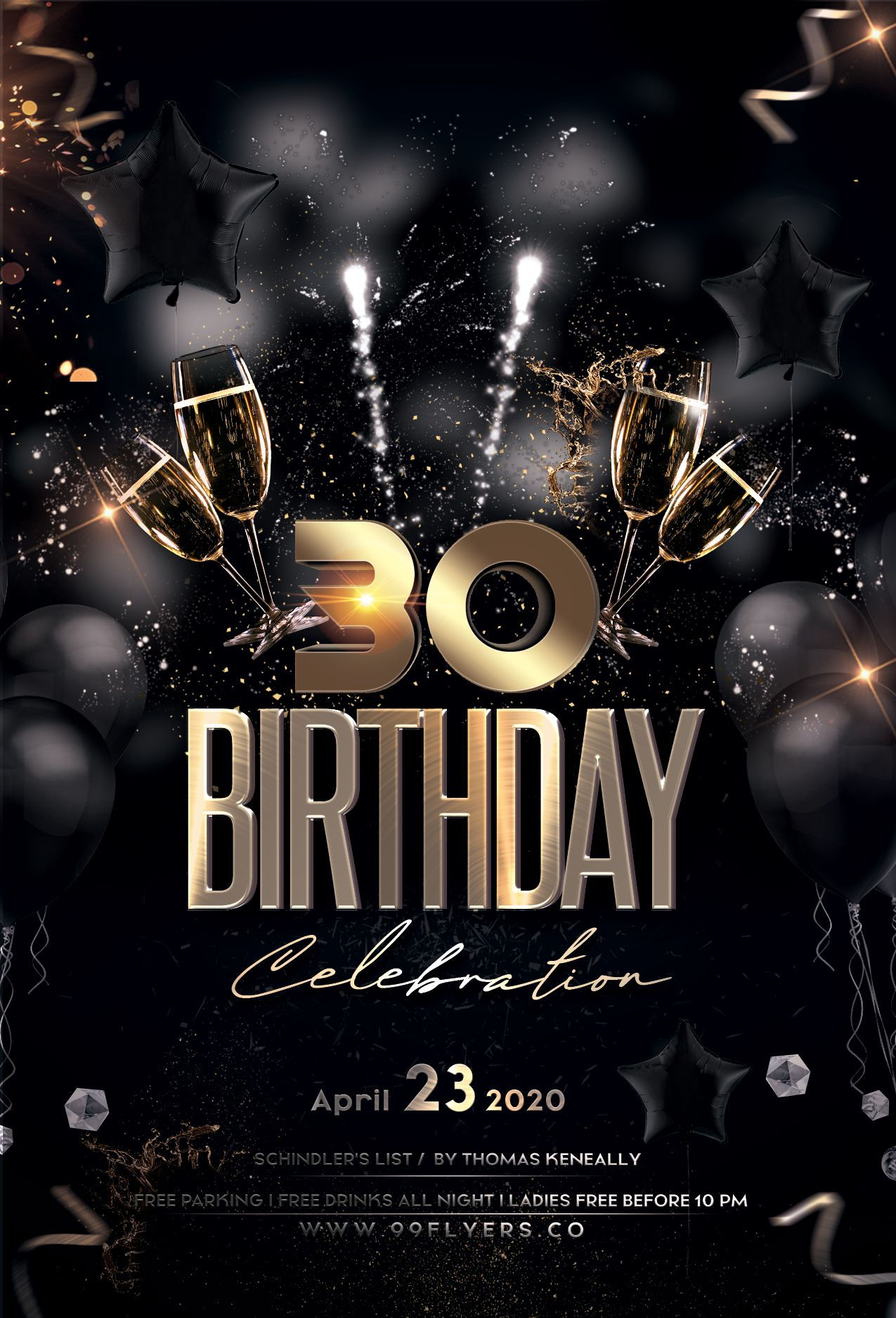 001 Fascinating Birthday Flyer Template Psd Free Download High Resolution Full
