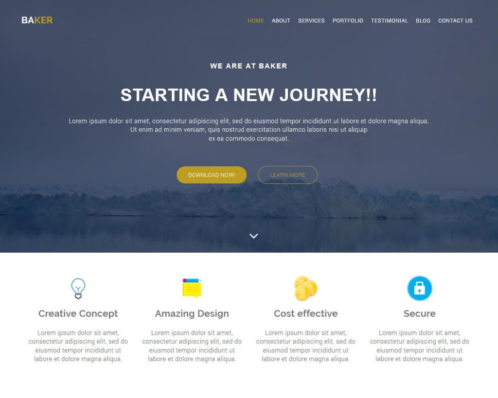 001 Fascinating Free Bootstrap Website Template High Resolution  Templates Responsive With Slider Download For Education BusinesLarge