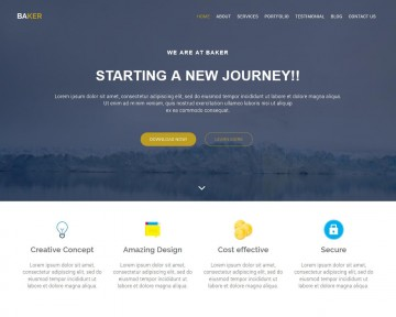 001 Fascinating Free Bootstrap Website Template High Resolution  2020 Responsive Download For Busines Education360