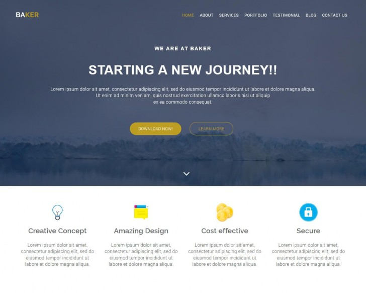 001 Fascinating Free Bootstrap Website Template High Resolution  2020 Responsive Download For Busines Education728