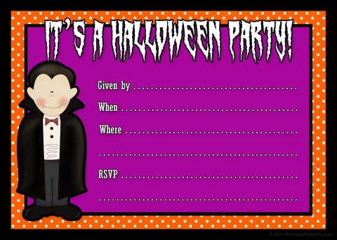 001 Fascinating Free Halloween Party Invitation Template Highest Quality  Printable Birthday For Word Download480