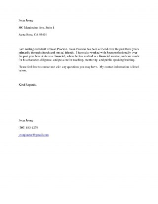 001 Fascinating Free Reference Letter Template For Friend Design 320