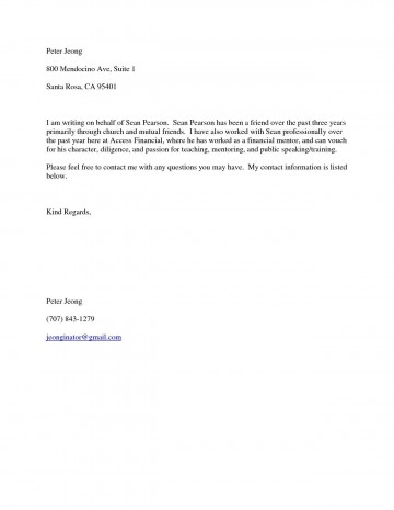 001 Fascinating Free Reference Letter Template For Friend Design 360
