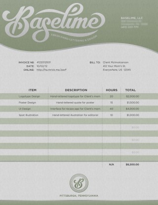 001 Fascinating Freelance Graphic Design Invoice Example Photo  Contract Template Sample320