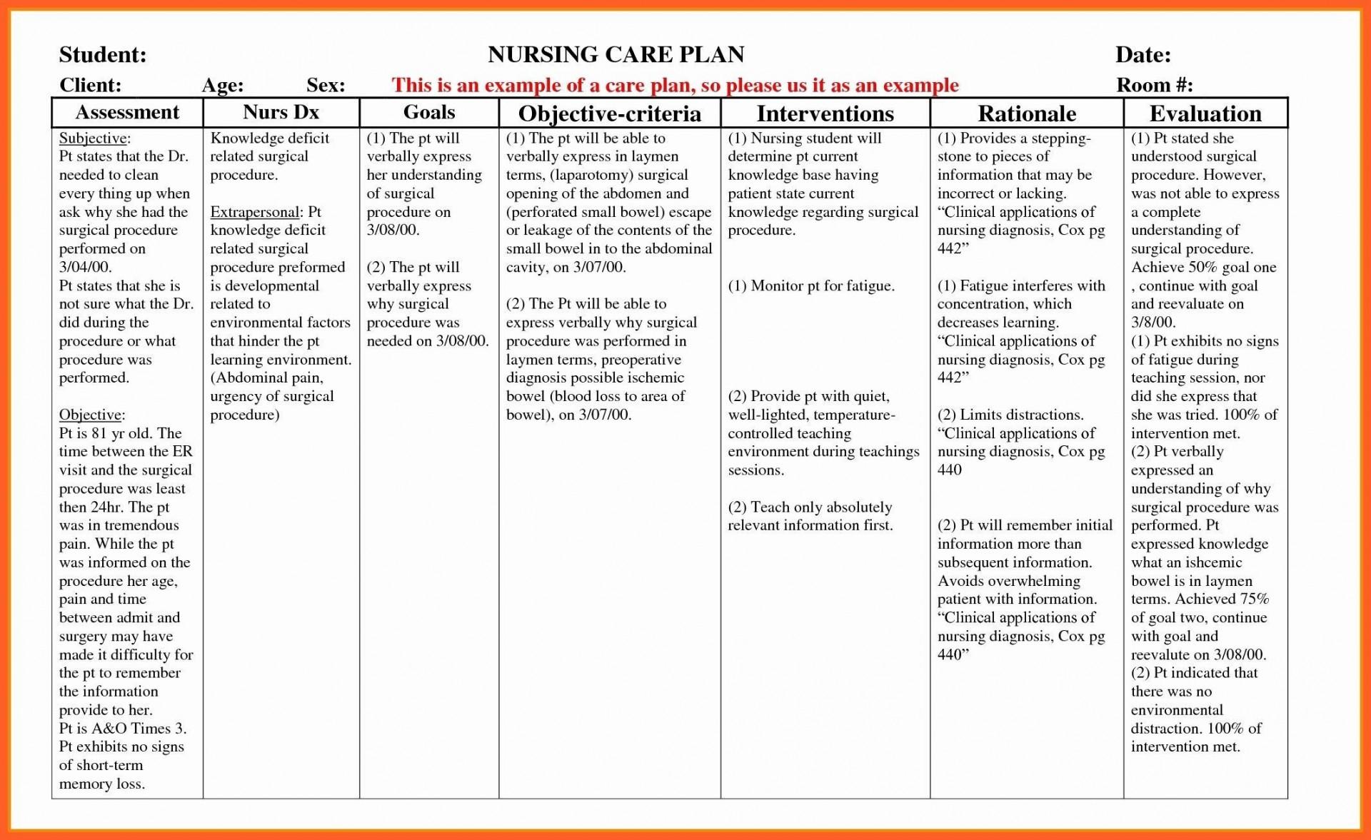 001 Fascinating Nursing Care Plan Template High Def  Example Australia Home For Diabete1920