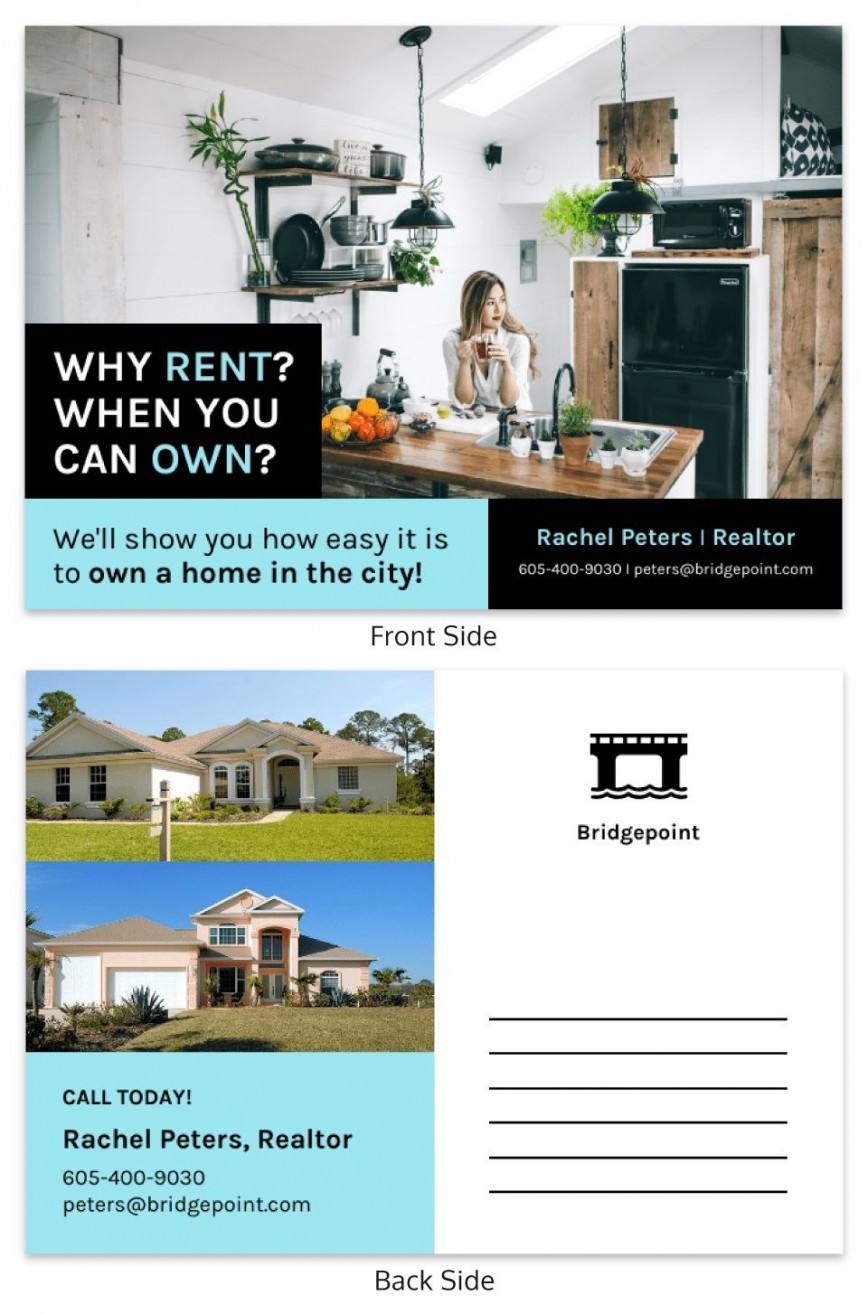 001 Fascinating Real Estate Postcard Template Design  Agent Free Microsoft Word Investor868