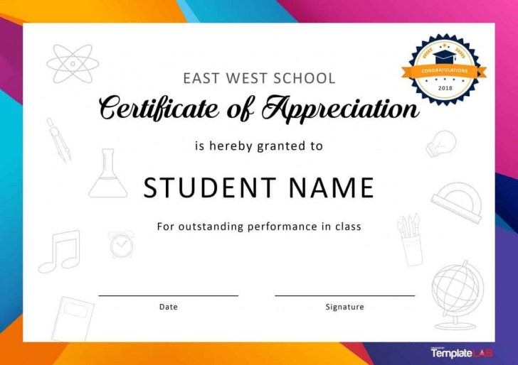 001 Fascinating Recognition Certificate Template Free Image  Employee Award Of Download Word728