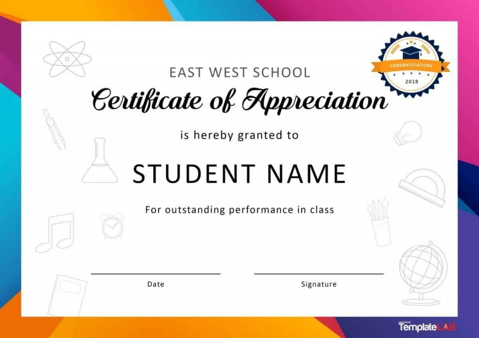 001 Fascinating Recognition Certificate Template Free Image  Employee Award Of Download Word960