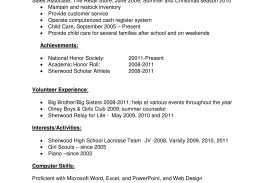 001 Fascinating Resume Template High School Student Image  Sample First Job