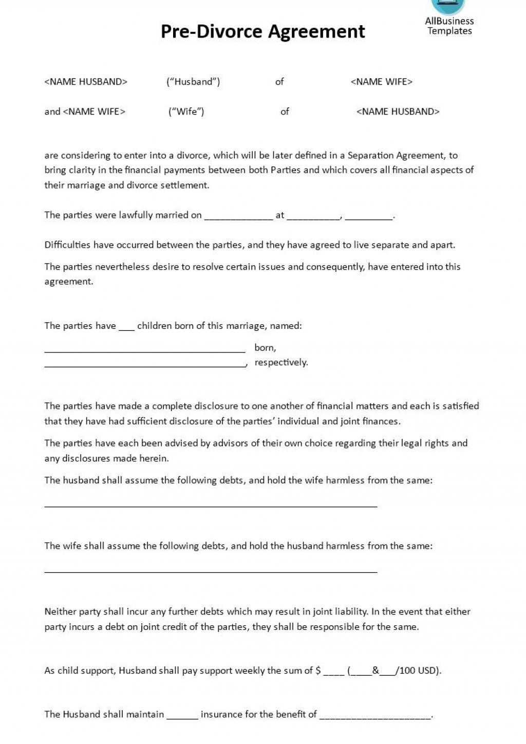 001 Fascinating Virginia Separation Agreement Template Highest Quality  Marital MarriageLarge