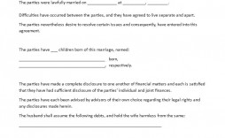 001 Fascinating Virginia Separation Agreement Template Highest Quality  Marital Marriage
