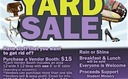 001 Fascinating Yard Sale Flyer Template Design  Word Example Microsoft