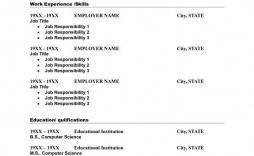 001 Fearsome Basic Resume Template Word Photo  Free Download 2020