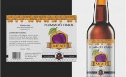 001 Fearsome Beer Label Template Word Idea  Free Bottle Microsoft