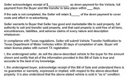 001 Fearsome Bill Of Sale Texa Template Highest Clarity  Motor Vehicle Form Free Printable