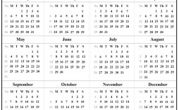 001 Fearsome Blank Calendar Template Pdf Picture  Free Yearly