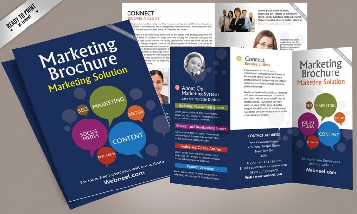 001 Fearsome Brochure Template Free Download Inspiration  For Word 2010 Microsoft Ppt728