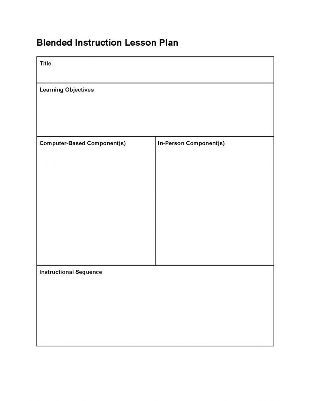 001 Fearsome Editable Lesson Plan Template Elementary Example Large